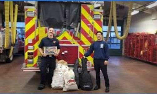 Vallejo Firemen Support GME Toy Giveaway